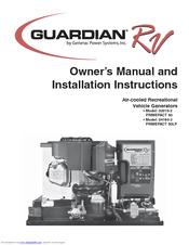 Generac Power Systems Guardian RV 04164-3 Manuals