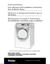 Haier HDG5300AW User Manual And Installation Instructions