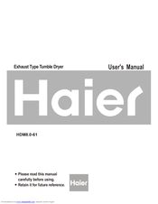 Haier HDM8.0-61 User Manual
