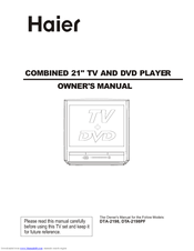 Haier DTA-1586 Owner's Manual