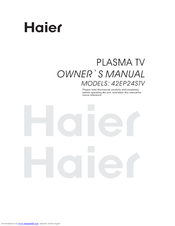 haier 42ep24s 42 plasma tv manuals rh manualslib com Haier Air Conditioner Haier Air Conditioner