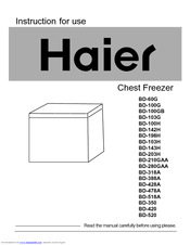 haier bd 100gb manuals rh manualslib com haier 3.5 chest freezer manual haier chest freezer manual bd101g