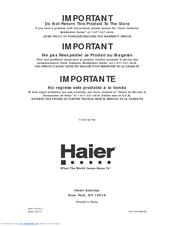 Haier RRTG18PABW - 18.0 cu. Ft. Freezer Refrigerator Manuals on