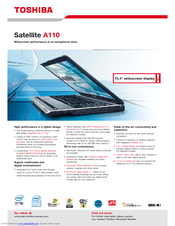 Toshiba Satellite A110 Series Specifications