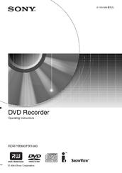 sony rdr hx900 operating instructions manual pdf download rh manualslib com JVC KD AVX77 Manual Sony DVD Recorder User Manual