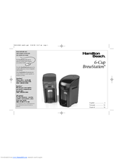hamilton beach 48274 coffee maker manuals rh manualslib com Hamilton Beach BrewStation Directions Hamilton Beach 49989 Owner's Manual