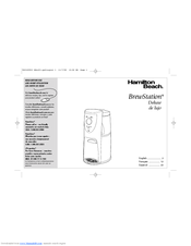 hamilton beach brewstation deluxe 47454h manuals rh manualslib com Hamilton Beach BrewStation User Manual Hamilton Beach Product Manuals