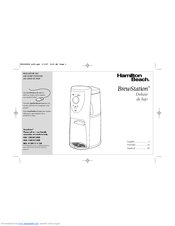 Hamilton beach brewstation deluxe manual arts