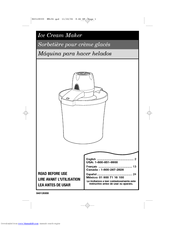 Hamilton Beach 68330R - 4 Qt Bucket Ice Cream Maker Manuals