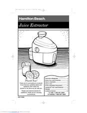 hamilton beach 67900 healthsmart juicer manuals rh manualslib com hamilton beach juicer 67150 user manual Big Mouth Juicer Replacement Parts For