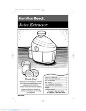 hamilton beach 67900 healthsmart juicer manuals rh manualslib com hamilton beach big mouth juicer user manual hamilton beach big mouth juicer user manual