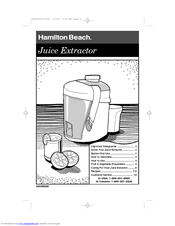 hamilton beach 67180 manuals rh manualslib com Big Mouth Juicer Replacement Parts For Big Mouth Juicer Replacement Parts For