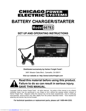 CHICAGO ELECTRIC 66783 SET UP AND OPERATING INSTRUCTIONS MANUAL Pdf  Download | ManualsLibManualsLib