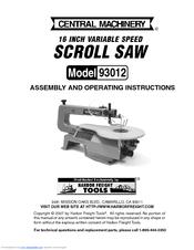 central machinery 93012 manuals rh manualslib com central machinery band saw manual central machinery band saw manual