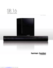 HARMAN-KARDON SB 16 OWNER'S MANUAL Pdf Download