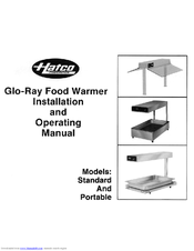 Hatco Glo-Ray GRAH-144 Installating And Operation Manual