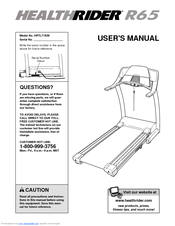 Healthrider treadmill user's manual 240622.
