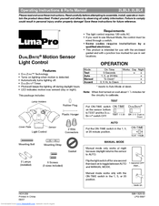 Heath Zenith DualBrite Motion Sensor Light Control 2LBL4 Manuals