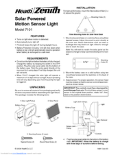 heath zenith motion sensor light 7101 installation manual pdf download rh manualslib com heath zenith motion sensing security light instructions Heath Zenith Motion Sensor Outdoor