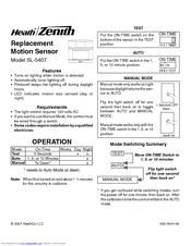 Replacement Motion Sensor Sl Product on Zenith Motion Sensor Light Manual