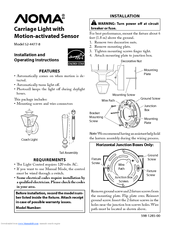 noma carriage light with motion activated sensor 52 4477 8 manuals rh manualslib com motion sensor light instruction manual heath zenith motion sensor light manual override