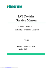 HISENSE LCD32V86 SERVICE MANUAL Pdf Download