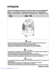 Hitachi EC 79 Safety And Instruction Manual