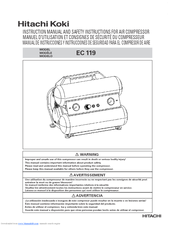Hitachi EC119 OM Safety And Instruction Manual