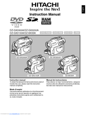 hitachi dz bx35a instruction manual pdf download rh manualslib com hitachi dvd cam dz-mv730a manual hitachi dvd cam dz-bx35e manual