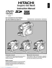 hitachi dzmv750ma dvd camcorder w 16x optical zoom manuals rh manualslib com hitachi camcorder user manual hitachi camcorder user manual