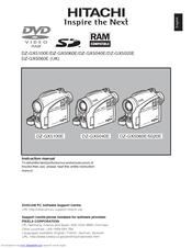 hitachi dz gx5060e uk manuals rh manualslib com Hitachi DVD Camcorder Manual Hitachi DVD Cam 30X Optical Zoom