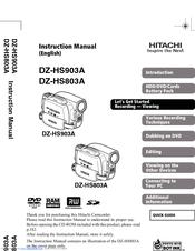 hitachi dz hs903a dvd video camera manuals rh manualslib com hitachi camera manuals online hitachi dvd cam manual