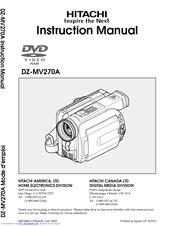 hitachi dz mv270a camcorder manuals rh manualslib com Hitachi DVD Camcorder Battery Hitachi DVD Camcorder Charger