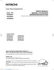 hitachi 42pd5000 manuals rh manualslib com Online User Guide Quick Reference Guide