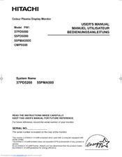 hitachi 37pd5000 user manual pdf download