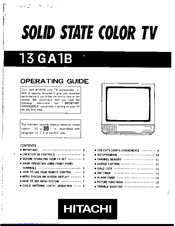 Hitachi 13GA1B Operating Manual