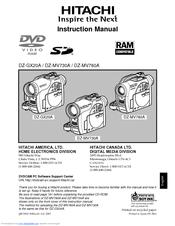 hitachi dz gx20a 2 1 mp dvd camcorder manuals rh manualslib com hitachi dvd cam dz-gx5020a user manual