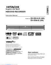 Hitachi DV-DS161E Instruction Manual