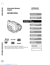 Hitachi DZ-BD10HA Instruction Manual