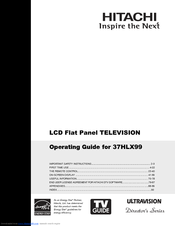 Hitachi 37HLX99 - LCD Direct View TV Operating Manual