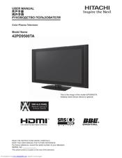 hitachi 42pd9500ta manuals rh manualslib com Online User Guide User Manual