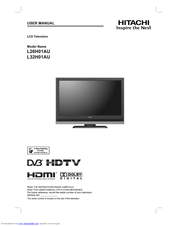 Hitachi L32H01AU User Manual