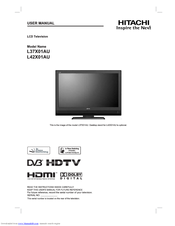 hitachi l42x01au manuals rh manualslib com hitachi dv3 instructions hitachi dv3 instructions