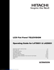 Hitachi L47S601 - LCD Direct View TV Operating Manual