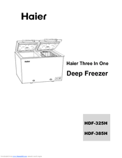 HAIER HDF-385H USER MANUAL Pdf Download. on