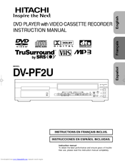 Hitachi DV-PF2U Instruction Manual