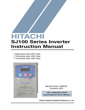 Hitachi SJ100-030HFE Instruction Manual