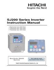 hitachi sj200 series manuals rh manualslib com Hitachi Inverter Wiring Hitachi L300P AC Drive Manual