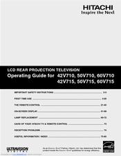 hitachi 50v710 50 rear projection tv manuals rh manualslib com hitachi tv service manuals hitachi tv owners manual le32m459