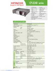 hitachi x3280 manual
